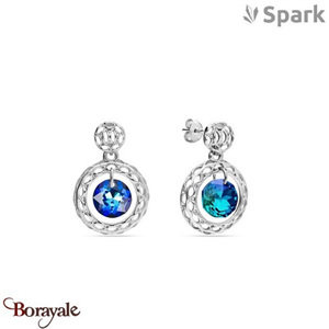 Boucles d'oreilles SPARK made with Swarovski Elements collection Ajour Cricle A0