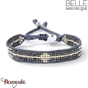 """Bracelet """"Belle mais pas que"""" collection Black Silver B-1540-BS"""