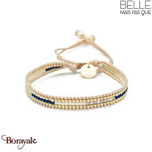 Bracelet -Belle mais pas que- collection Golden Deep Blue B-1543-GODEEP