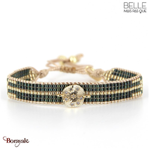 bracelet -Belle mais pas que- collection Gold Pastel Green B-1730-PASTL