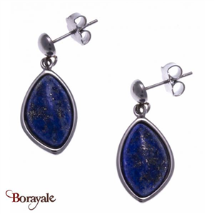 Boucles d'oreilles lapis lazuli, Collection: Galet YOLA