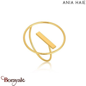 Modern Minimalism, Bague Argent Plaqué OR ANIA HAIE R002-04G