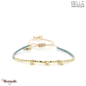 bracelet -Belle mais pas que- collection Gold Pastel Green B-1818-PASTL