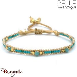 "Bracelet ""Belle mais pas que"" Collection Gold Bora Bora B-989-GBB"