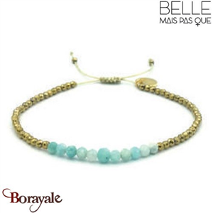 "Bracelet ""Belle mais pas que"" collection Golden Blue Lagoon BNA-791-GBL"