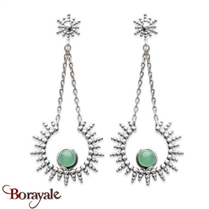 Boucles d'oreilles collection aventurine