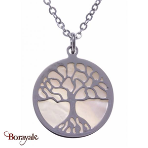 Collier nacre blanche, Collection: Arbre de vie YOLA