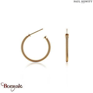 Boucles d'oreilles PAUL HEWITT collection Anchor PH-ER-ROH-G