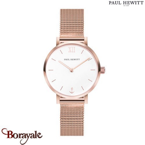 Montre Dame Acier IP Rose/Mesh Acier IP Rose/Ø28 mm PAUL HEWITT PH-SA-R-XS-W-45S