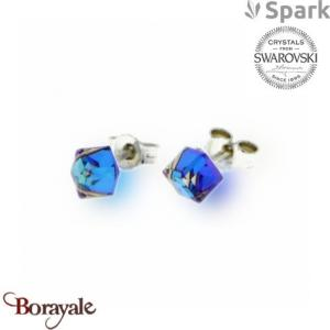 Boucles d'oreilles SPARK collection cube made with Swarovski Elements A56B