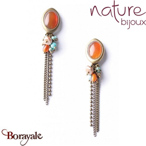 Collection Mangrove, Boucles d'oreilles NATURE Bijoux 11--76354