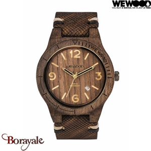 Montre en bois WEWOOD Alpha SW choco rough 70361-511