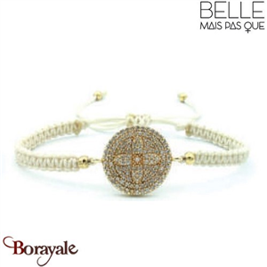 "Bracelet ""Belle mais pas que"" collection Golden rouge B-1200-GRO"
