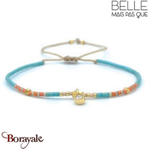 "Bracelet ""Belle mais pas que"" Collection Golden Caraïbes B-1270-GC"