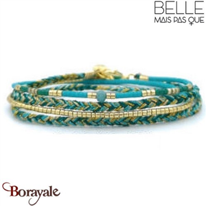 "Bracelet ""Belle mais pas que"" Collection Gold Bora Bora B-1367-GBB"
