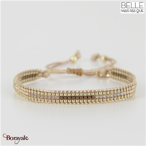 bracelet -Belle mais pas que- collection Golden Almond B-1543-ALMD