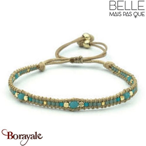 "Bracelet ""Belle mais pas que"" collection Golden Blue Lagoon B-989-GBL"