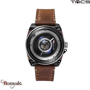 Montre  TACS AVL II automatique Homme Gun Marron