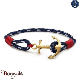 Bracelet TOM HOPE Atlantic one, ancre laiton doré Taille L TM0403