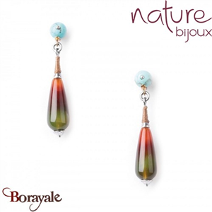Collection Botaniste, Boucles d'oreilles NATURE 12--76120