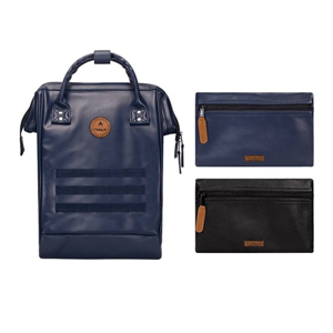 Sac à Dos Medium + 2 poches CABAIA Simili Milan Simili cuir Navy