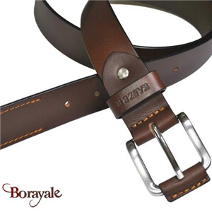 Ceinture KASZER collection Indiana en cuir de buffle 578204-C6