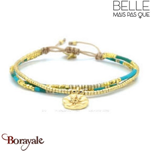 "Bracelet ""Belle mais pas que"" Collection Gold Bora Bora B-1366-GBB"