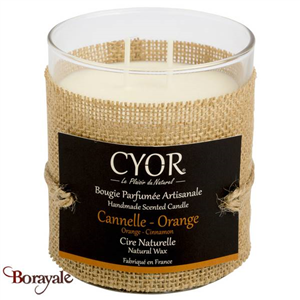 Grande Bougie Parfumée CYOR Cannelle Orange: Made in France