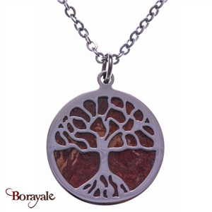 Collier Agate rouge, Collection: Arbre de vie YOLA