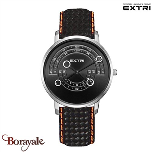 Montre EXTRI City Homme carbone - orange X3016SBCL05