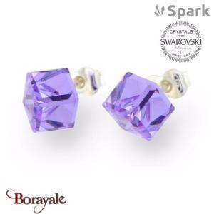 Boucles d'oreilles SPARK collection cube made with Swarovski Elements A58M