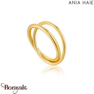 Modern Minimalism, Bague Argent Plaqué OR ANIA HAIE R002-01G-54
