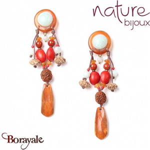 Collection Broceliande, Boucles d'oreilles Nature Bijoux 12--72226
