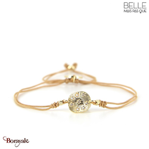 bracelet -Belle mais pas que- collection Gold Pastel Green B-1547-PASTL