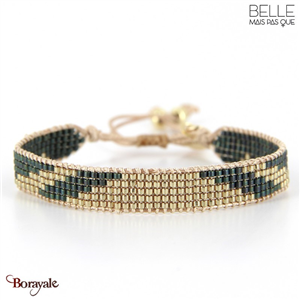 bracelet -Belle mais pas que- collection Gold Pastel Green B-1796-PASTL