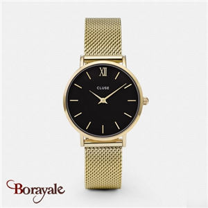 Montre Cluse Minuit Mesh Gold/Black CL30012-CW0101203017