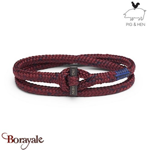 Bracelet PIG & HEN Tiny Tiny Bordeaux - Navy  Black L (20cm)