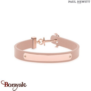 Bracelet Ancre Signum IP Rose/Cuir Rose Chair/S 17  PAUL HEWITT Collection Signu