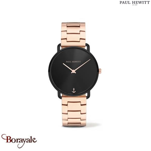 Montre PAUL HEWITT Miss Ocean Black Sunray Noir Métallique PH-M-B-BS-33S