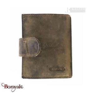 Porte cartes - monnaie KASZER collection Oregon en cuir de vachette brut 520802