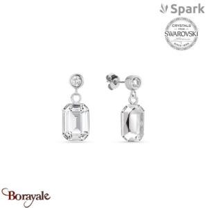 Boucles d'oreilles SPARK with Swarovski : Royal - Cristal blanc