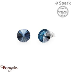Boucles d'oreilles SPARK with Swarovski : Sweet Candy 8mm - Bleu Bermudes