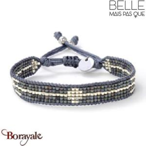 "Bracelet ""Belle mais pas que"" collection Black Silver B-1540-BS"