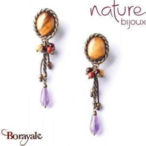 Collection Himba, Boucles d'oreilles NATURE Bijoux 11--76029