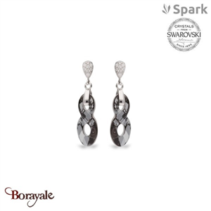 Boucles d'oreilles spark bijoux made with swarovski elements a449gr