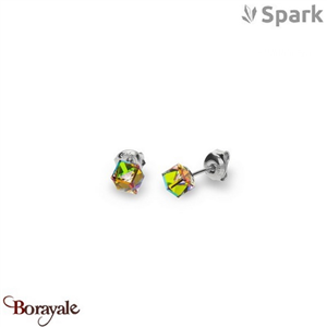 Boucles d'oreilles SPARK collection cube made with Swarovski Elements A56ND