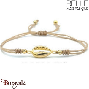 "Bracelet ""Belle mais pas que"" Collection Golden Caraïbes B-1304-GC"