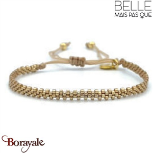 "Bracelet ""Belle mais pas que"" Collection Gold Bora Bora B-1368-GBB"