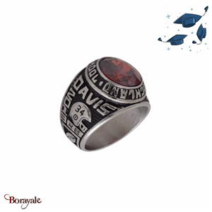 Bague Universitaire américaine Gooshland High School rouge