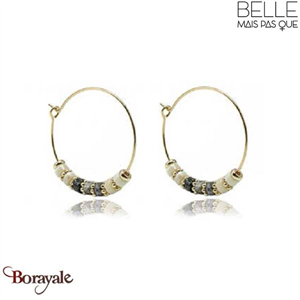 Boucles d'oreilles -Belle mais pas que- collection Mila Obsidienne
